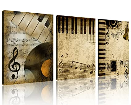 Art Lower Price with Abstract Instruments Canvas Set