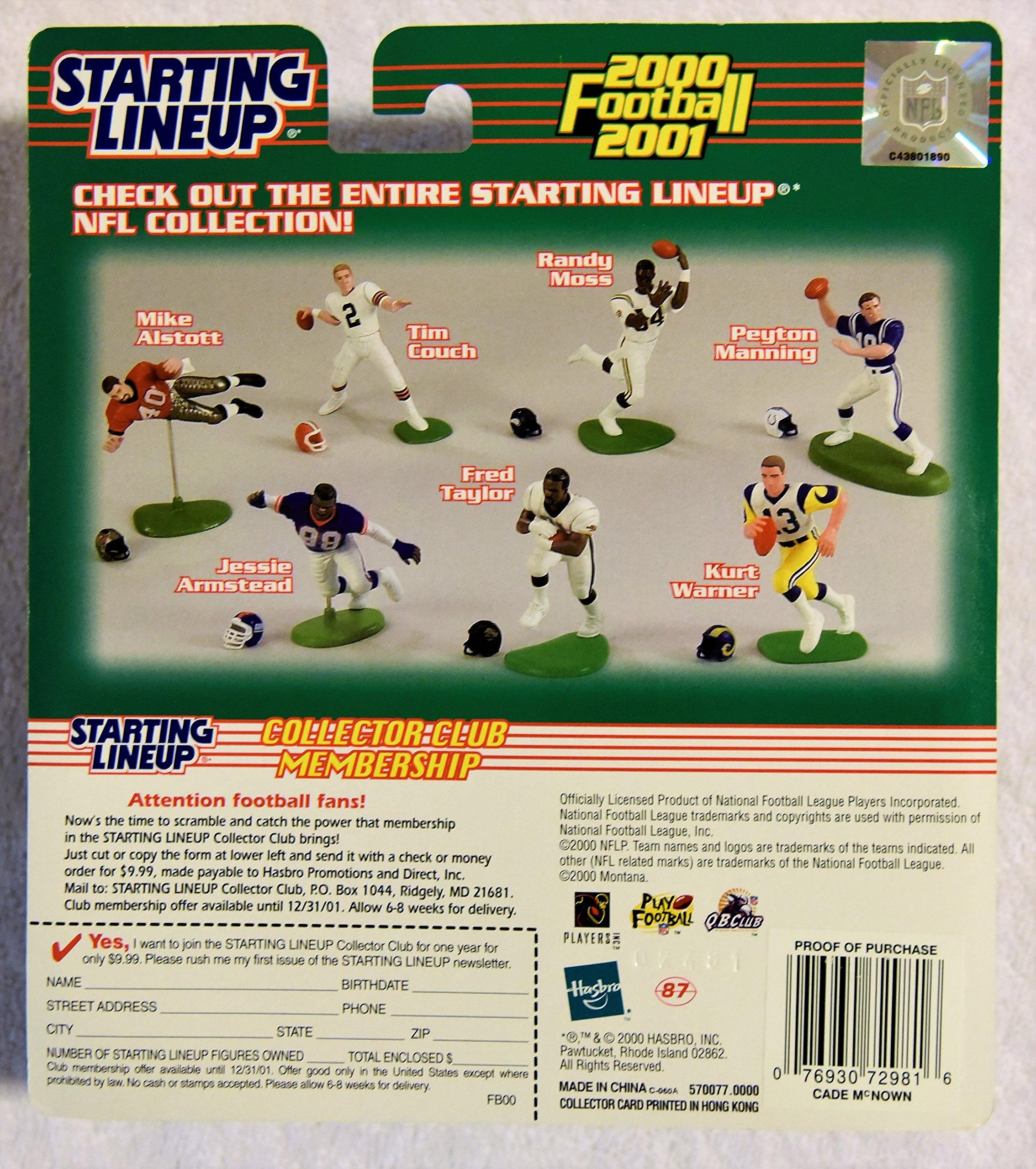Hasbro 2000 Starting Lineup CADE McNOWN 2000 2001 Football Collector Club Edition SLU