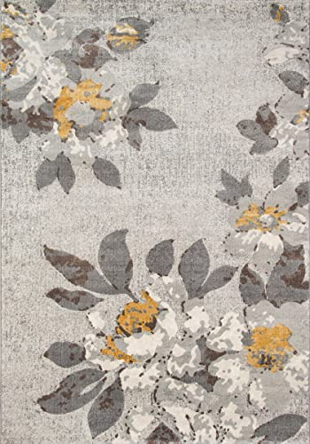 Momeni Rugs Luxe Collection Area Rug, 5 3 x 7 6 , Grey
