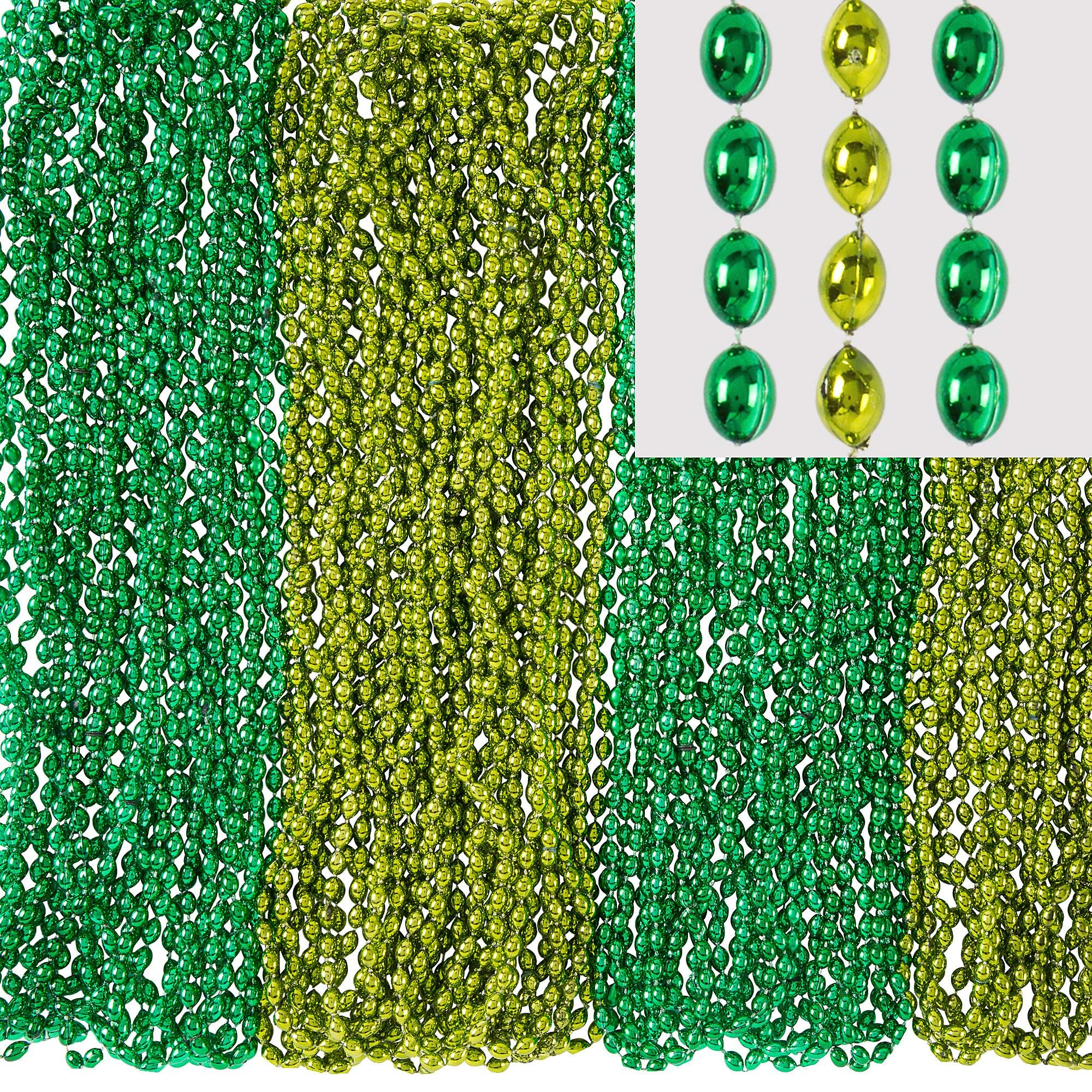 Amscan 393383 Green Bead Necklaces, 7.2 x 5.8 x 5.8'',