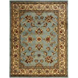 """Ottomanson Royal Collection New Traditional Oriental Area Rug, 5'3""""W X 7'0""""L, Blue Sage"""
