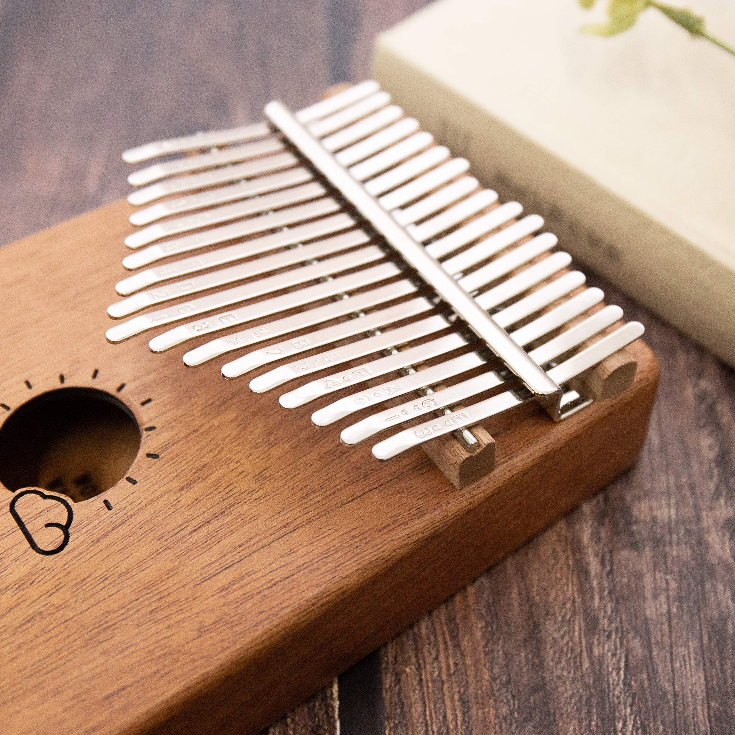 Kalimba 17 Keys Thumb Finger Piano - Mbira - Solid Mahogany and Portable with Carrying Bag and Instructions by GSM Brands (Image #3)