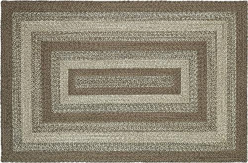 IHF Home Decor Braided Area Rug | Ashwood Design | Rectangle Farmhouse Flooring Carpet | Grey Review