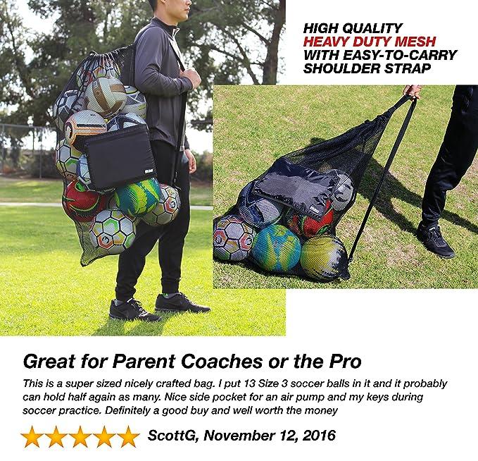 Amazon.com: Bolsa de malla extragrande para balones de ...