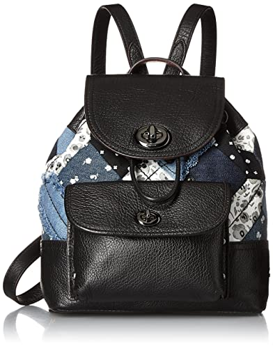 d6e4f81855c Amazon.com: COACH Womens Canyon Quilt Denim Mini Rucksack DK/Denim Skull  Print Backpack: Shoes