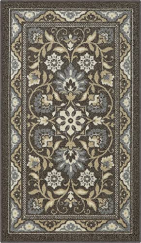Maples Rugs Florence Kitchen Rugs Non Skid Accent Area Carpet Made in USA , 1 8 x 2 10, Light Brown