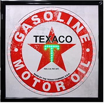 Amazon.com: Crystal Art – Vintage Texaco gasolina aceite de ...