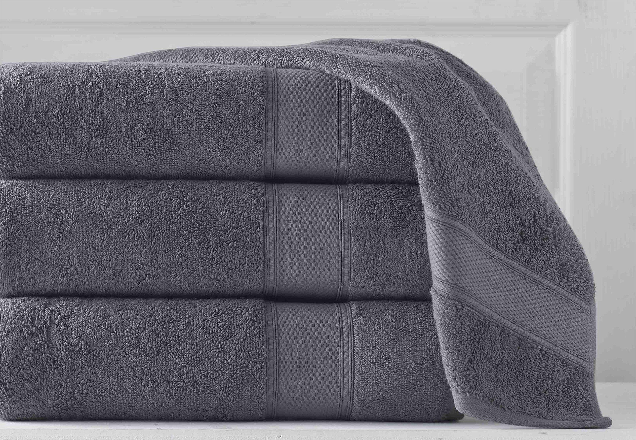 Grund Luxury Spa Towel, 100% Certified Organic Turkish Cotton, 36-Inch by 72-Inch, Slate Gray, 1 piece