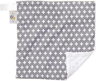 "product image for Original Baby Elephant Ears Boys & Girls Baby Blanket-Soft Minky, for Newborn Infants & Toddlers, Plush Blanket - (Grey Cross, Mini 12"" x 12"")"