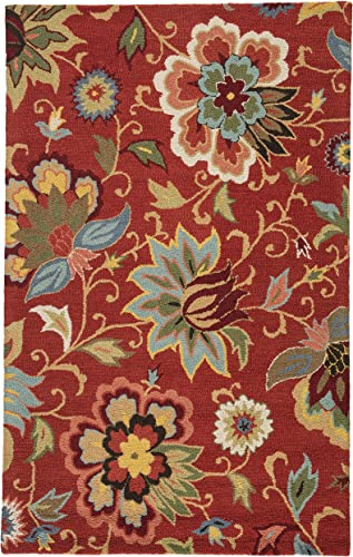 Jaipur Living Zamora Hand-Tufted Floral Leaves Red Area Rug 8' X 10'