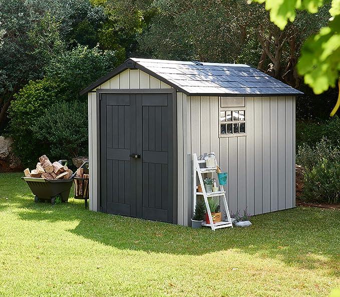 Keter - Caseta de jardín exterior Oakland 759, Color gris: Amazon.es: Jardín