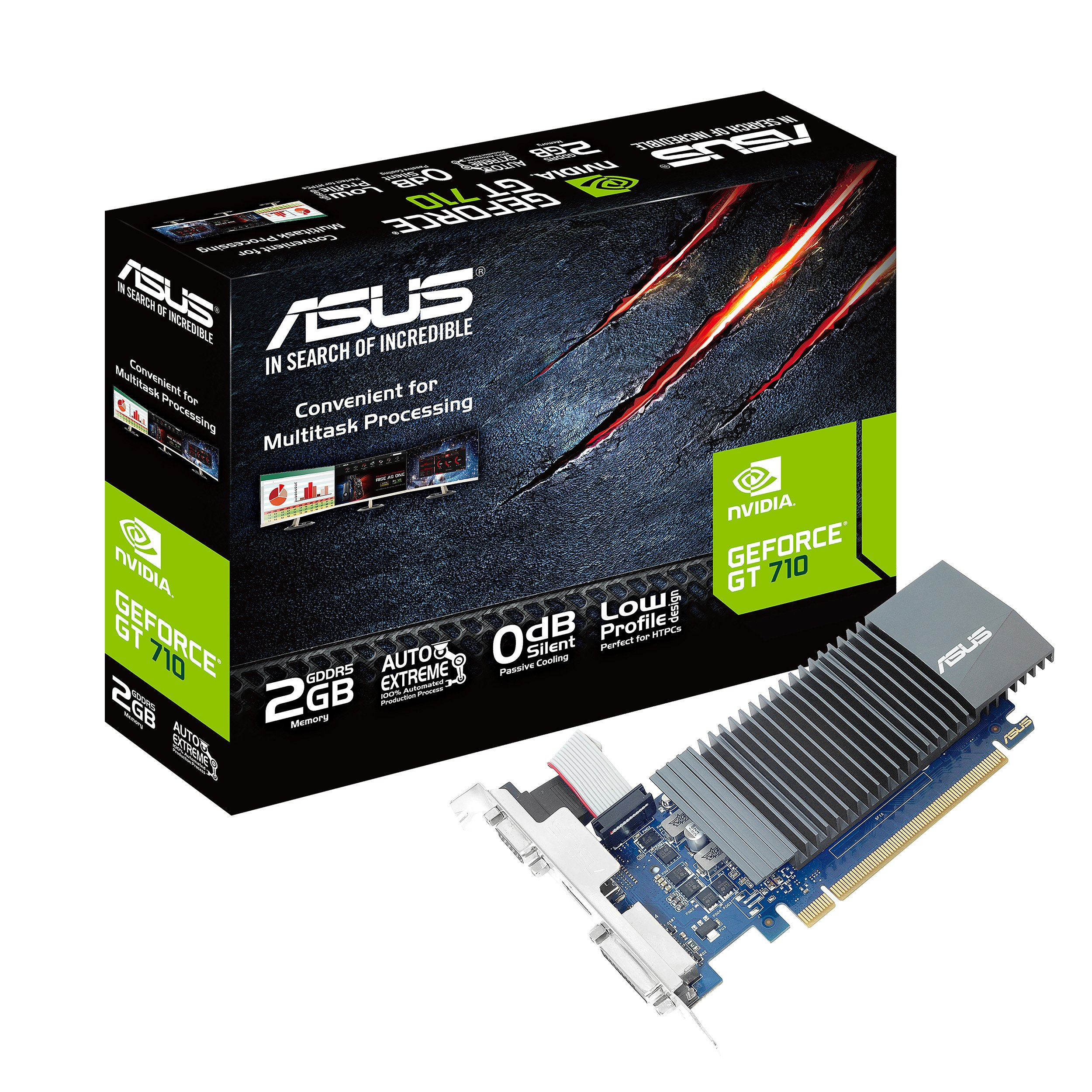 Asus GeForce GT 710 2GB GDDR5 HDMI VGA DVI Graphics Card Graphic Cards GT710-SL-2GD5-CSM by ASUS