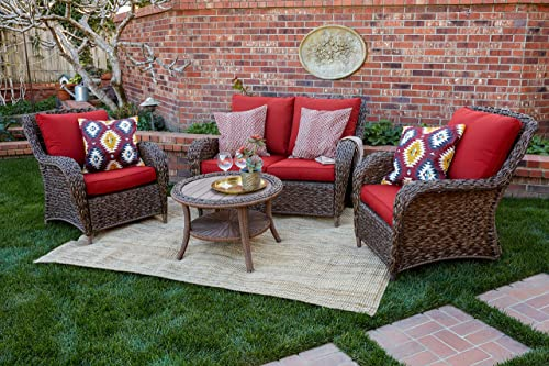Quality Outdoor Living 65-517109A Stonecrest All-Weather 4 Piece Deep Seating Set