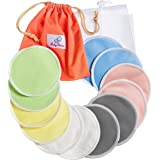 Reusable Washable Nursing Pads 12 Pack | Organic Bamboo | Laundry & Travel Bag | Softest Breast Pads by BabyVoice
