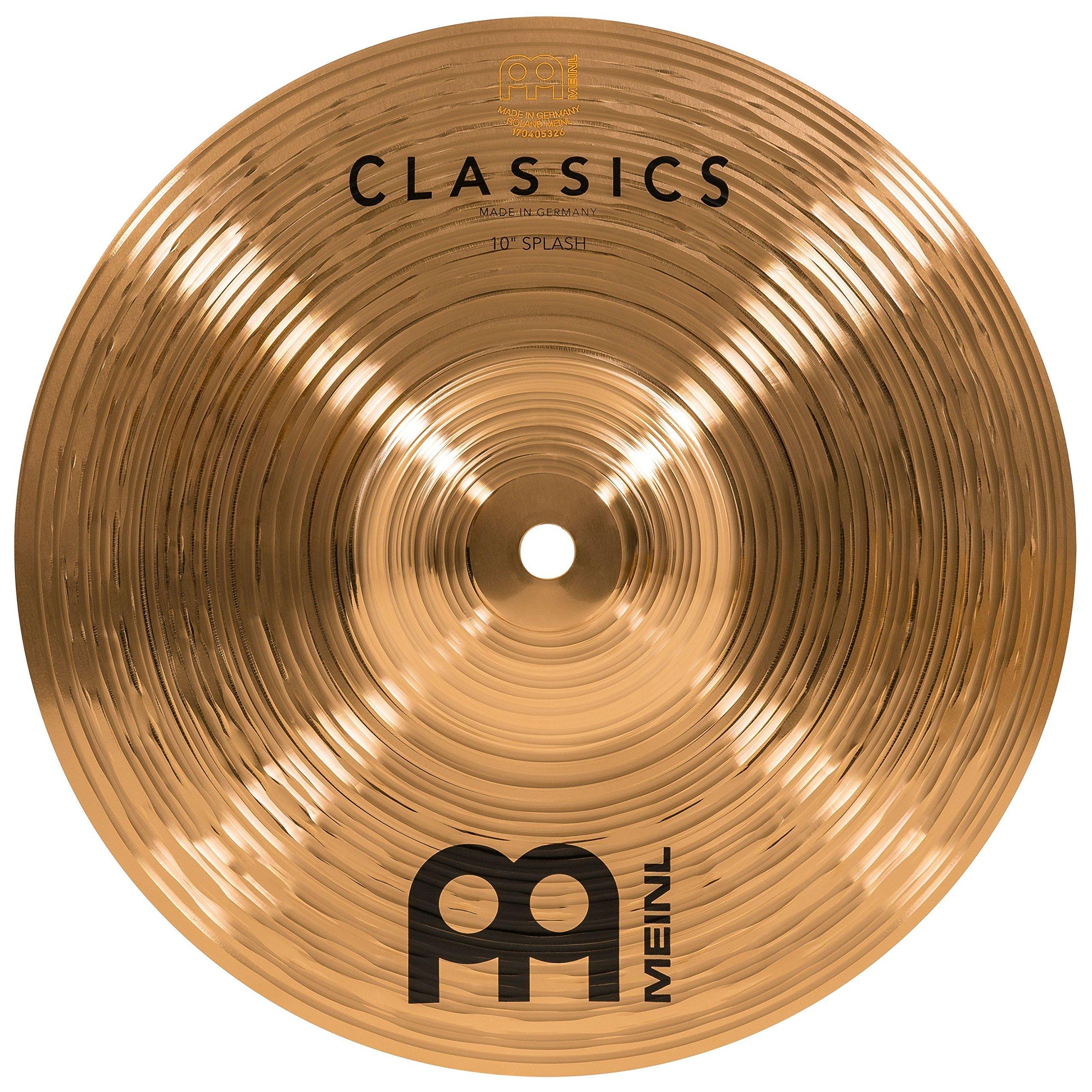 Meinl 10'' Splash Cymbal - Classics Traditional - Made in Germany, 2-YEAR WARRANTY (C10S)