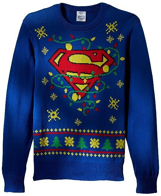 63e7e351f41 DC Comics Batman - Sudadera de Navidad con Luces LED para Hombre ...