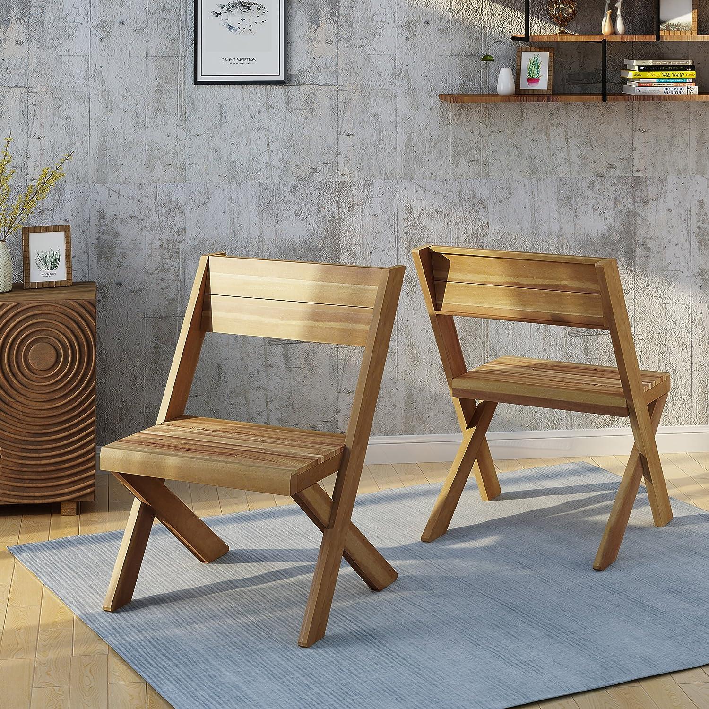 Amazon.com: Estelle - Sillas de madera de acacia para ...