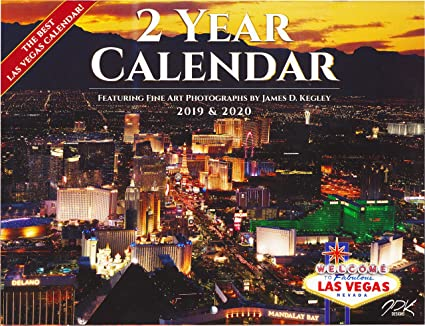 Las Vegas Calendar 2020 Amazon.: Calendar 2019 2020 Las Vegas Nevada Scenic Color