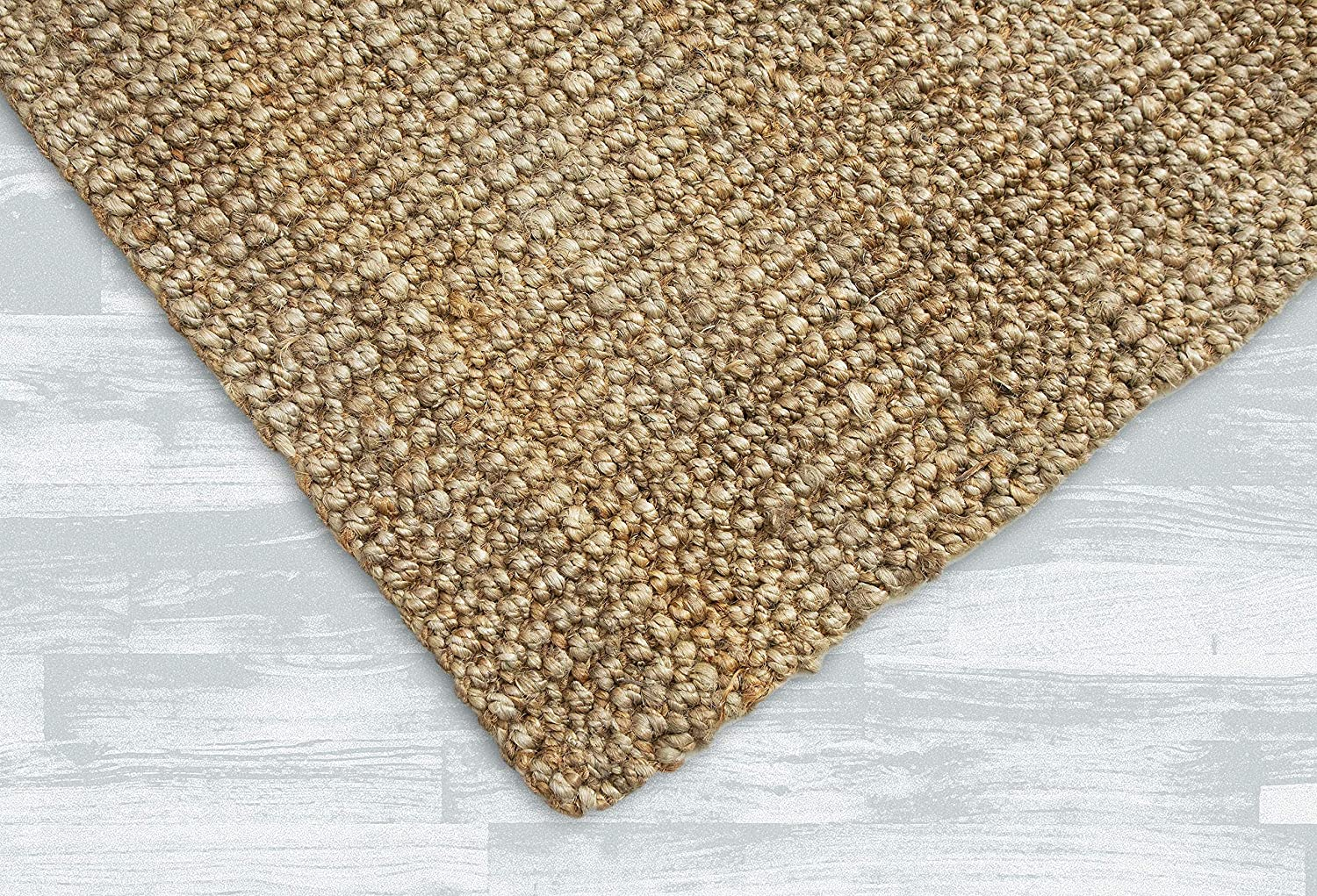 Amazon Com Irongate Classic Jute Solid Handwoven Reversible Ribbed Jute Area Rug 4 X 6 Natural Garden Outdoor