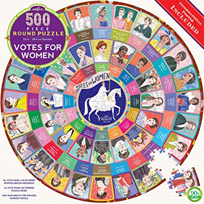 eeBoo Votes for Women Round Jigsaw Puzzle for Adults, 500 Pieces: Toys & Games