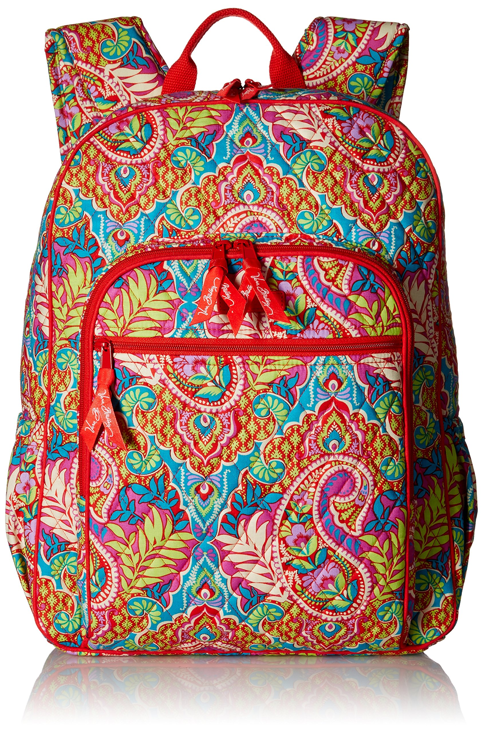 Women's Campus Tech Backpack, Signature Cotton, Paisley in Paradise by Vera Bradley