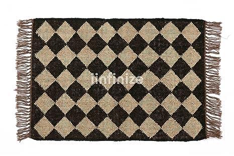 Amazon.com: iinfinize - Wool Jute Handwoven Rug 2x6 Large ...