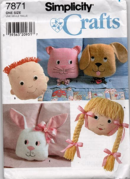 Amazon Simplicity 7871 Cat Dog Bunny Boy And Girl Pillow Or