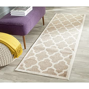 Amazon.com: Safavieh Amherst Collection AMT420S Wheat and Beige ...