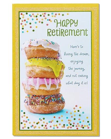 Amazon american greetings doughnuts retirement congratulations american greetings doughnuts retirement congratulations card with glitter m4hsunfo