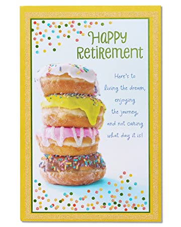 Amazon american greetings doughnuts retirement congratulations american greetings doughnuts retirement congratulations card with glitter 5824818 m4hsunfo Image collections