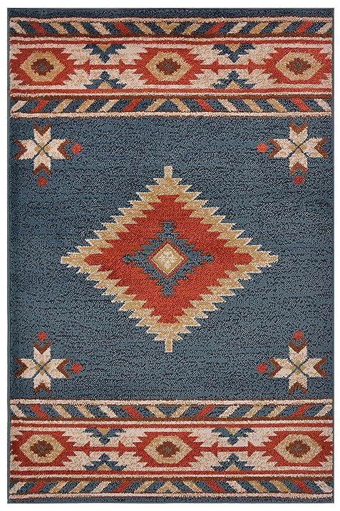 Nevita Collection Southwestern Native American Design Area Rug Southwest  Design Rugs Geometric South West Pattern (