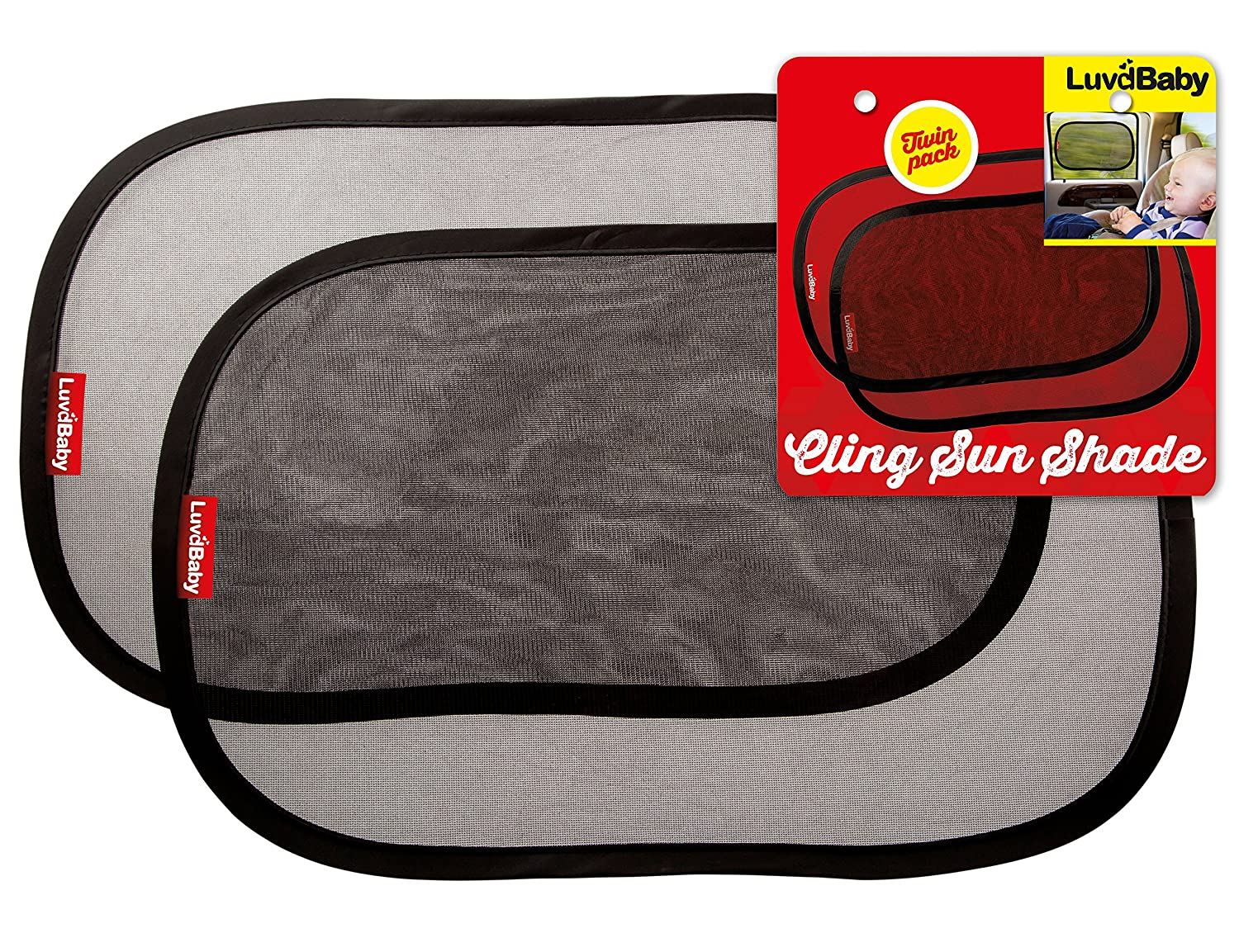 Samfolk Car Sun Shades for Baby (2 PACK) Car Blinds for Car Windows, Car Sun Shield Screens for Children 80 GSM for Maximum UV Rays/Sun/Glare Protection, Universal Size for All Cars (Fish)