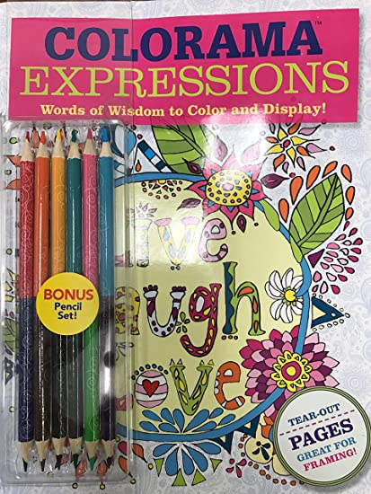 Colorama Expressions Words Of Wisdom To Color And Display