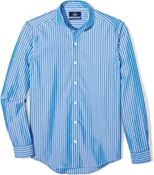 BUTTONED DOWN Men's Tailored Fit Supima Cotton Dress Casual Shirt (Discontinued Patterns)