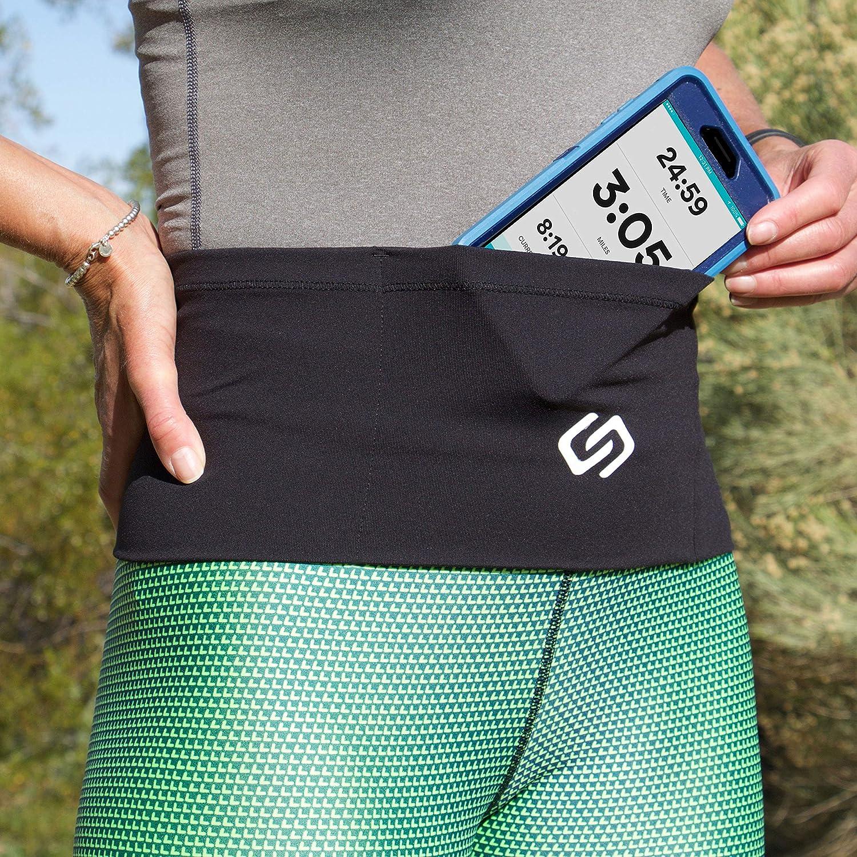Sporteer Unisex Waist Pack, Running Belt, Gym Workout Fanny Pack, Travel Money Belt – Fits All Smartphones Cases – Easy Access Top-Loading Design