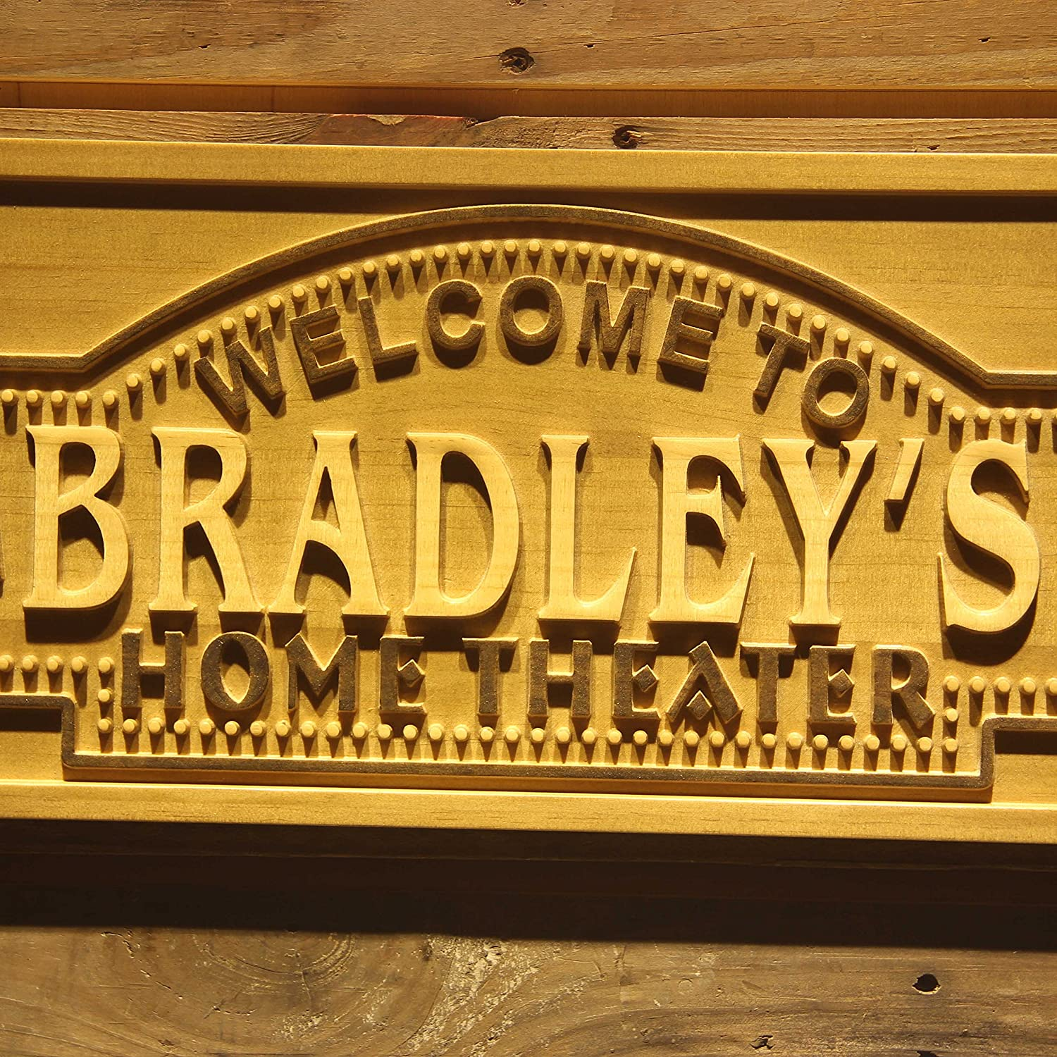 Amazon.com: AdvPro Wood Custom wpa0058 Name Personalized Home ...