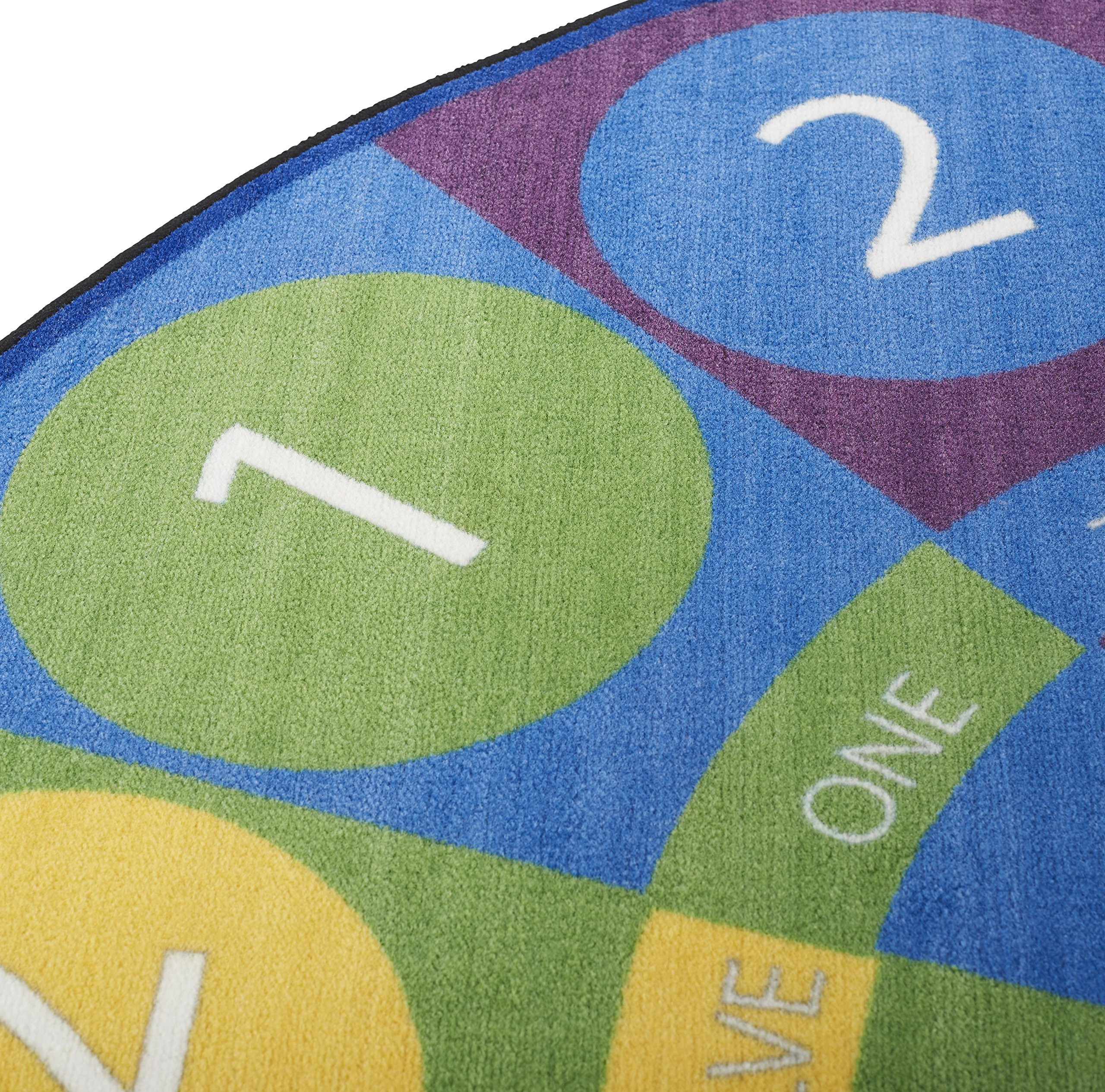 ECR4Kids Tick-Tock Clock Educational Circle Activity Rug for Children, School Classroom Learning Carpet, Round by ECR4Kids (Image #3)