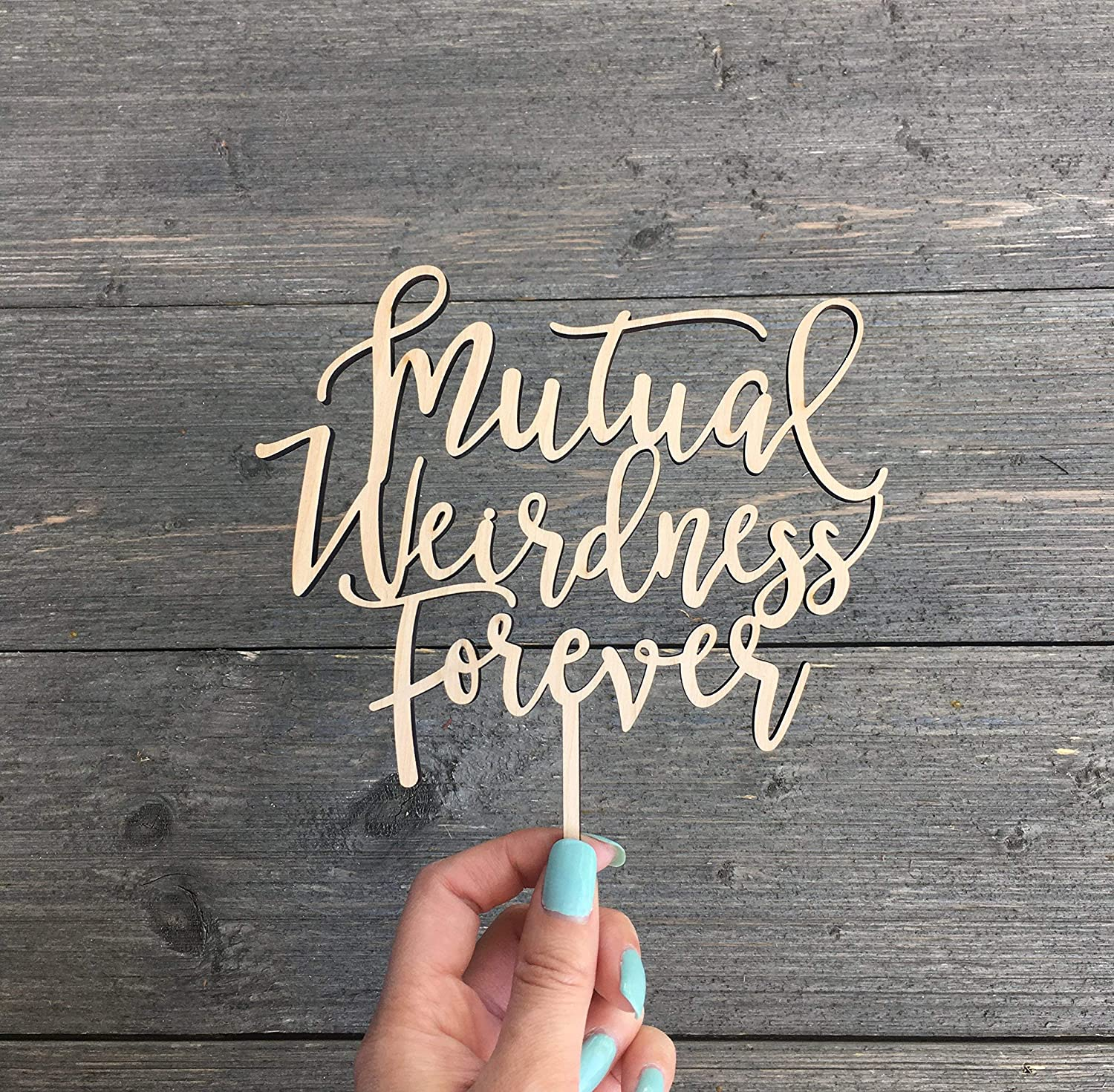 Mutual Weirdness Forever Cake Topper 6