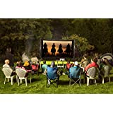 Backyard Theater Systems 11-Foot Outdoor Theater System Includes-HD 720p Projector , Big Screen, Loud speakers, WiFi-Blu-ray Player, Front or Rear Projection!