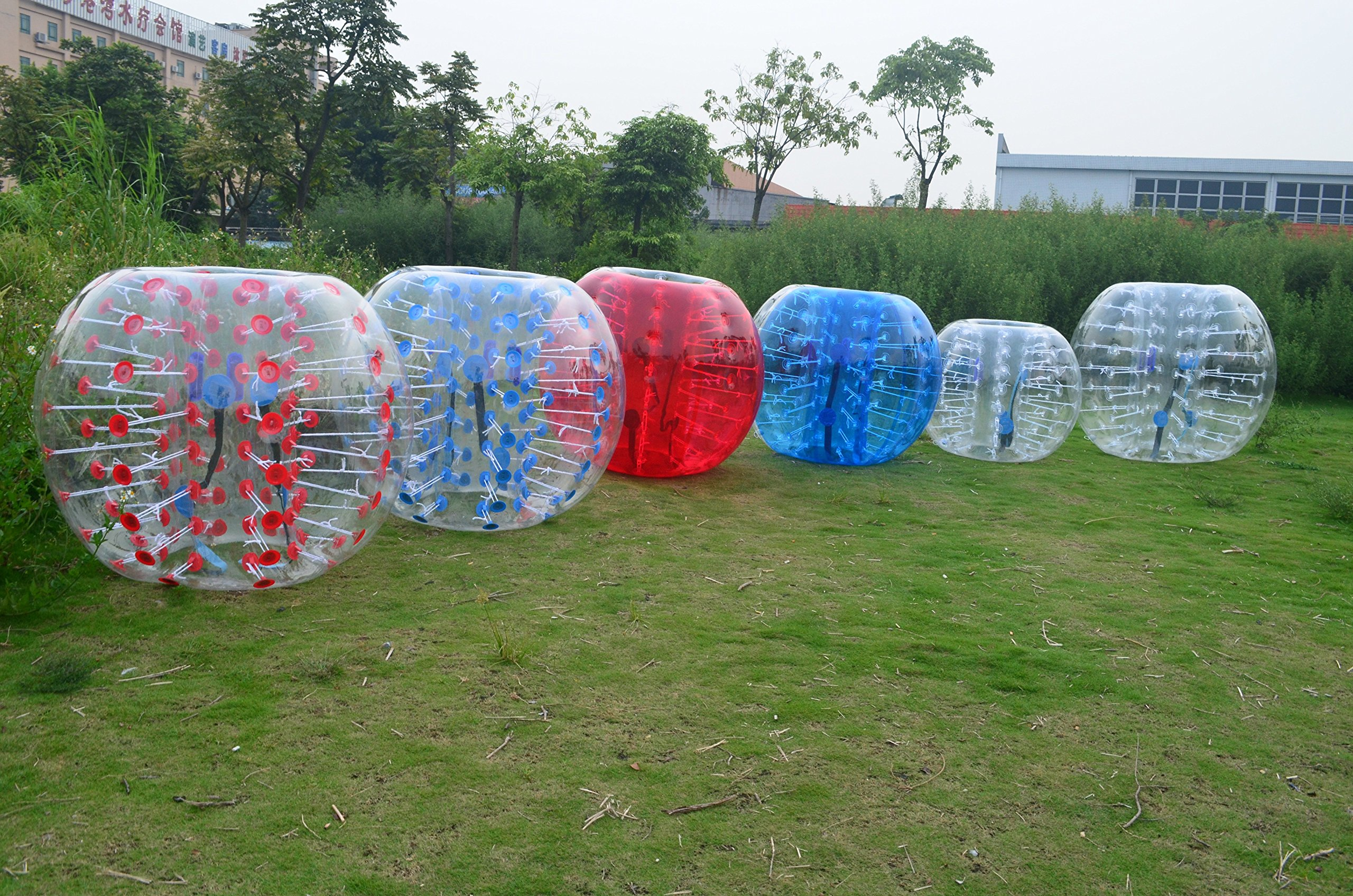 Inflatable-ZoneTM Bubble Soccer Bubbles, bumper ball, human hamster ball, bubble football - Blue Dot
