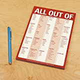 Knock Knock All Out Of Pad Grocery List Note Pad, 6 x 9-inches