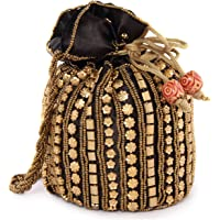 Funkia™ Women's traditional designer beads embroidery party wear potli - Single and combo