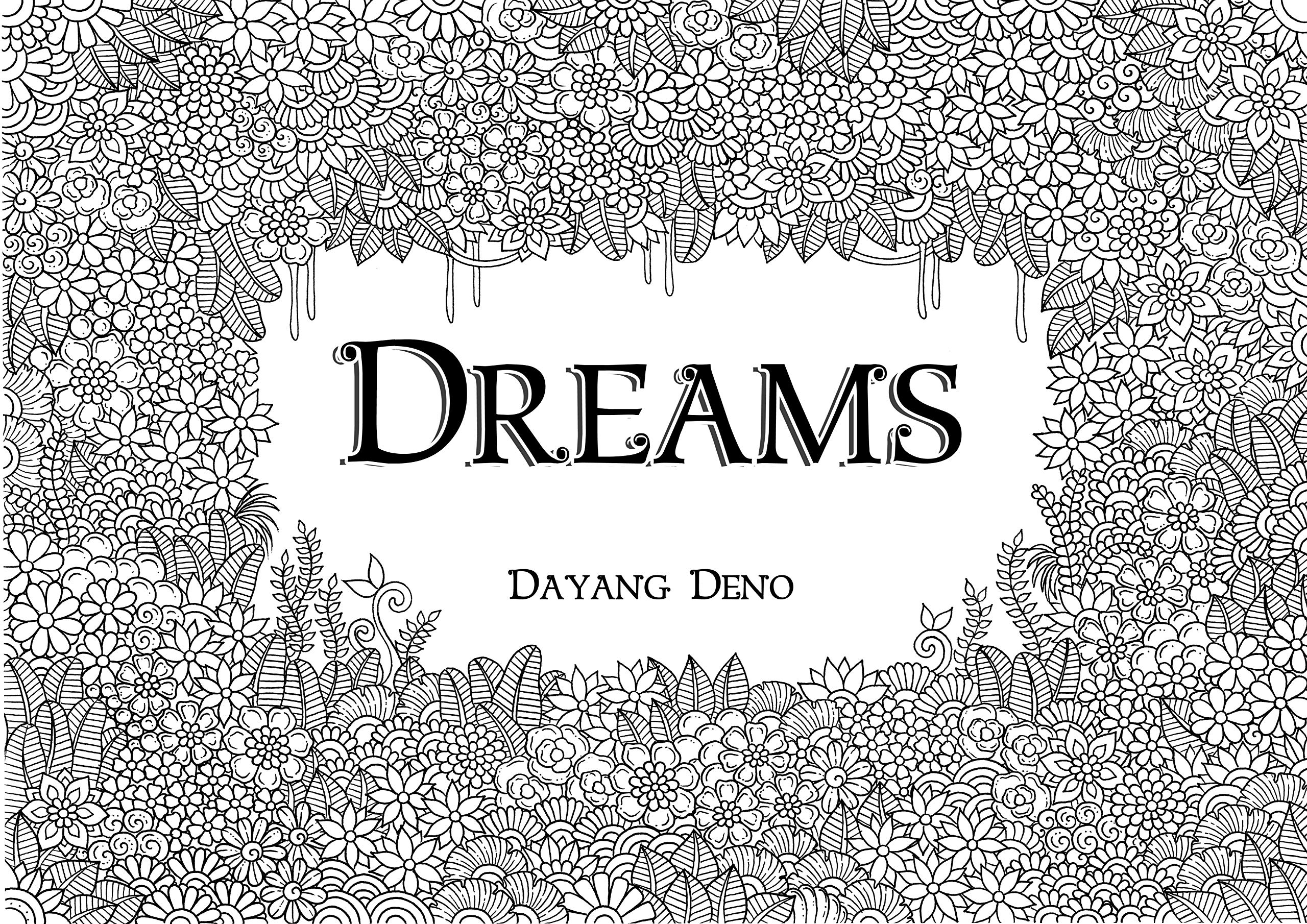 Dreams Adult Coloring Book relieving product image