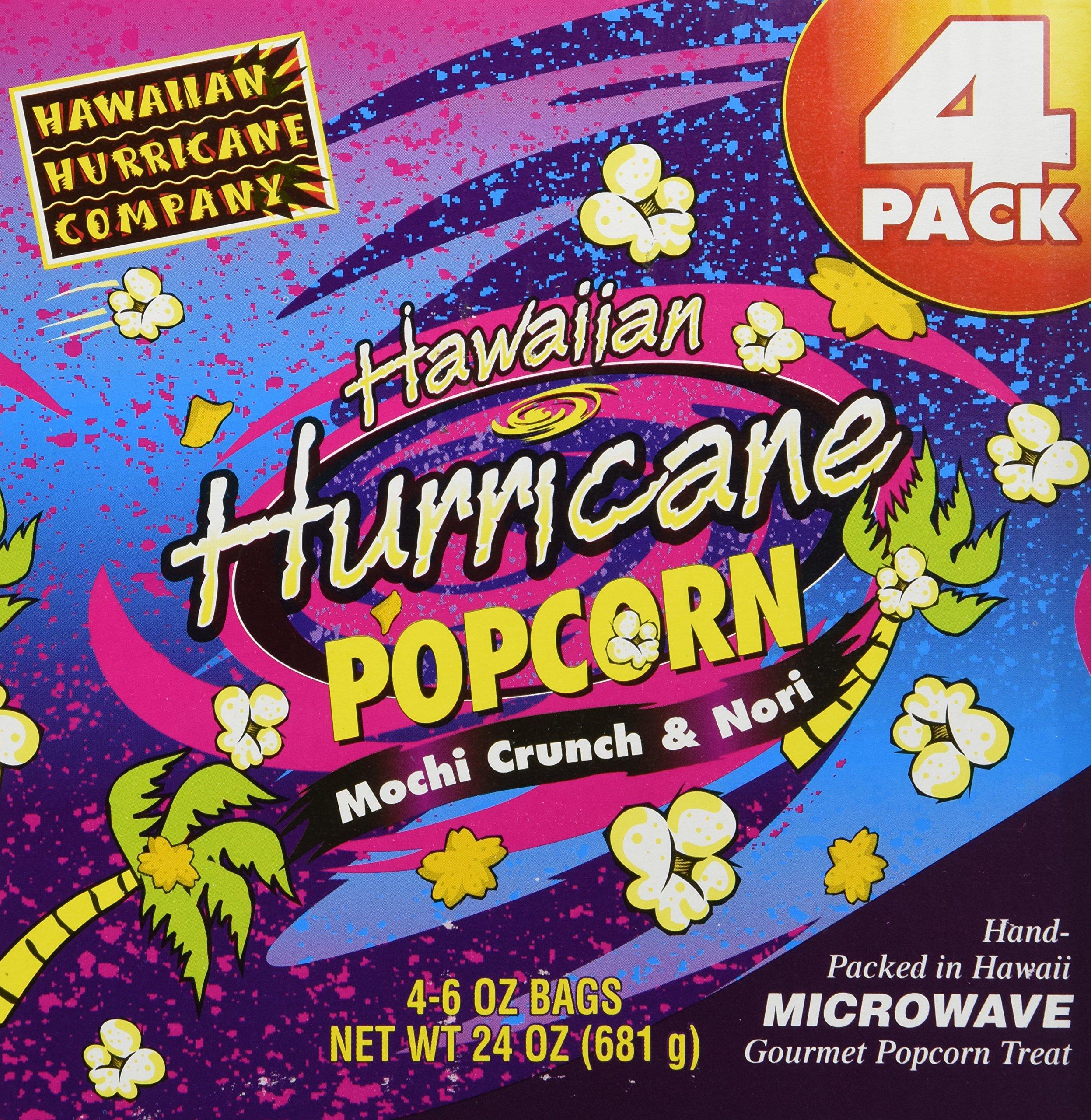 Hawaiian Hurricane Microwave Popcorn 4 Pack by Hawaiian Hurricane Popcorn