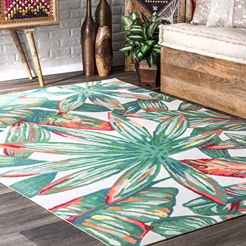 nuLOOM Lindsey Country Floral Indoor Outdoor Rug, 6 x 9 , Multi