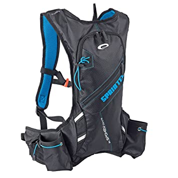 Spokey® Sprinter Mochila - - Mochila de hidratación, 395 gr.Unidad, mochila, bicicleta Mochila multicolor negro / azul: Amazon.es: Deportes y aire libre