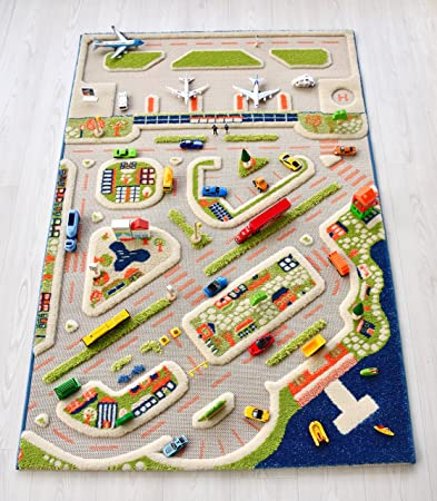 Amazon Com Ivi Mini City Exclusive Thick 3d Kids Car Rug In A