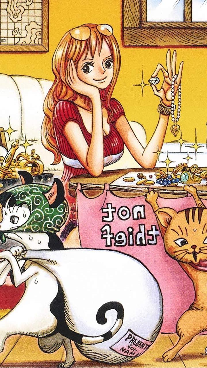 One Piece Hd 720 1280 壁紙 ナミ Nami ロングヘア アニメ スマホ用