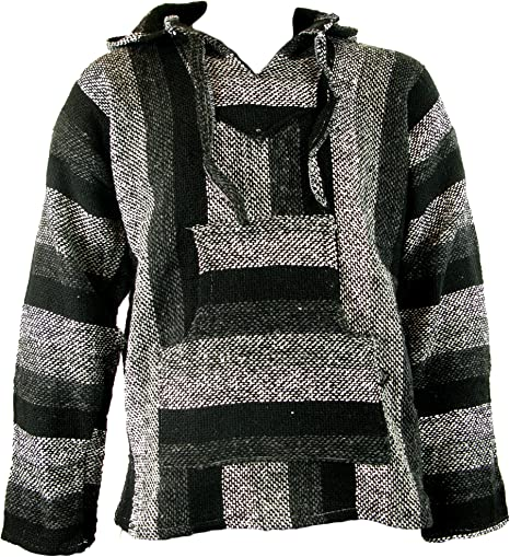 TALLA XXL. Sudadera con capucha estilo mexicano/hippy, en tallas S, M, L, XL y XXL, en diferentes tonos de gris