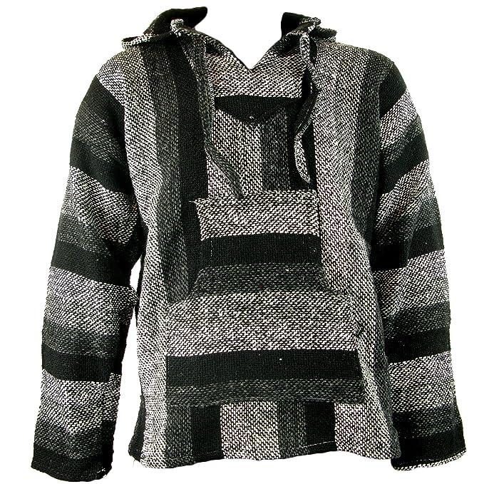 Sudadera con capucha estilo mexicano/hippy, en tallas S, M, L, XL y XXL, en diferentes tonos de gris: Amazon.es: Ropa y accesorios